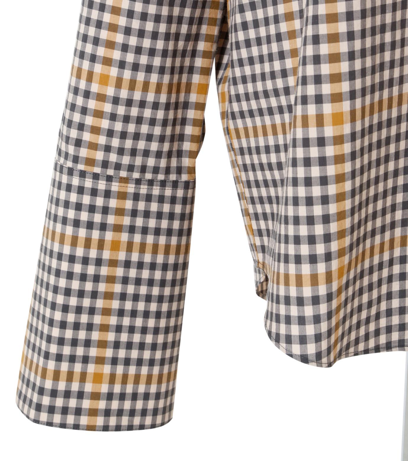 IRENE(アイレネ)のグラフチェックシャツ-LIGHT BEIGE(シャツ/shirt)-19S83001 拡大詳細画像5