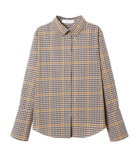 IRENE(アイレネ)のグラフチェックシャツ-LIGHT BEIGE(シャツ/shirt)-19S83001 詳細画像6