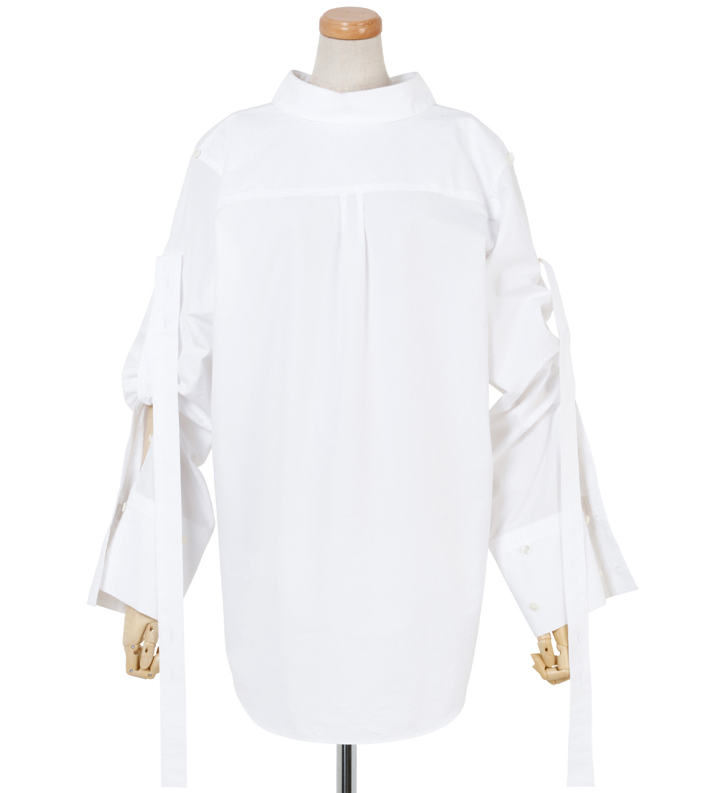 IRENE(アイレネ)のバックワーズシャツ-WHITE(シャツ/shirt)-19S83009 拡大詳細画像1