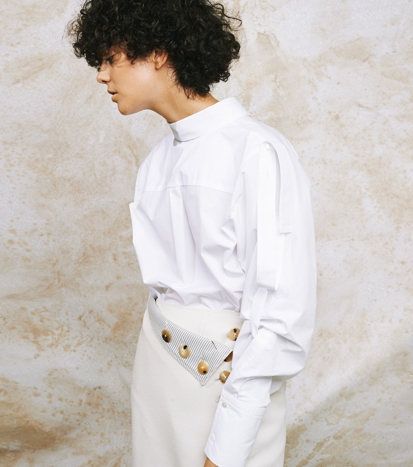 IRENE(アイレネ)のバックワーズシャツ-WHITE(シャツ/shirt)-19S83009 拡大詳細画像8