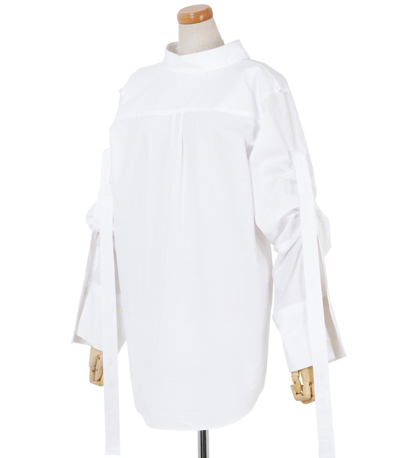 IRENE(アイレネ)のバックワーズシャツ-WHITE(シャツ/shirt)-19S83009 拡大詳細画像2