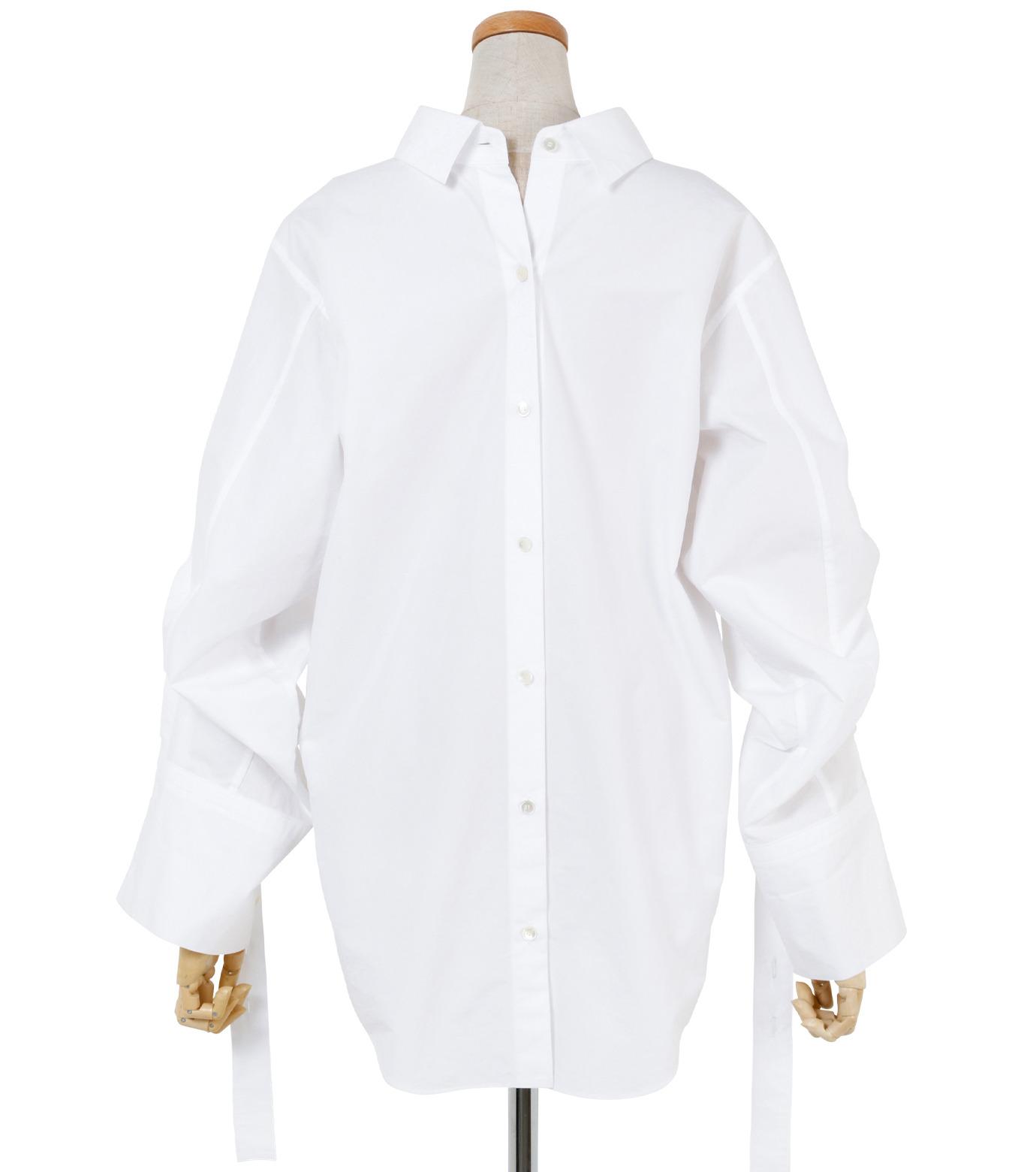 IRENE(アイレネ)のバックワーズシャツ-WHITE(シャツ/shirt)-19S83009 拡大詳細画像3