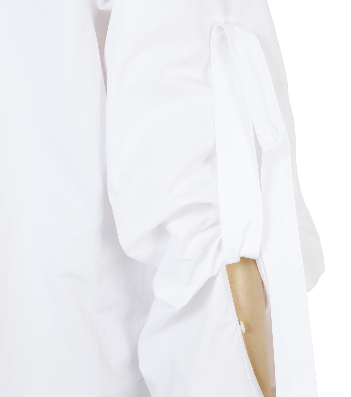 IRENE(アイレネ)のバックワーズシャツ-WHITE(シャツ/shirt)-19S83009 拡大詳細画像6