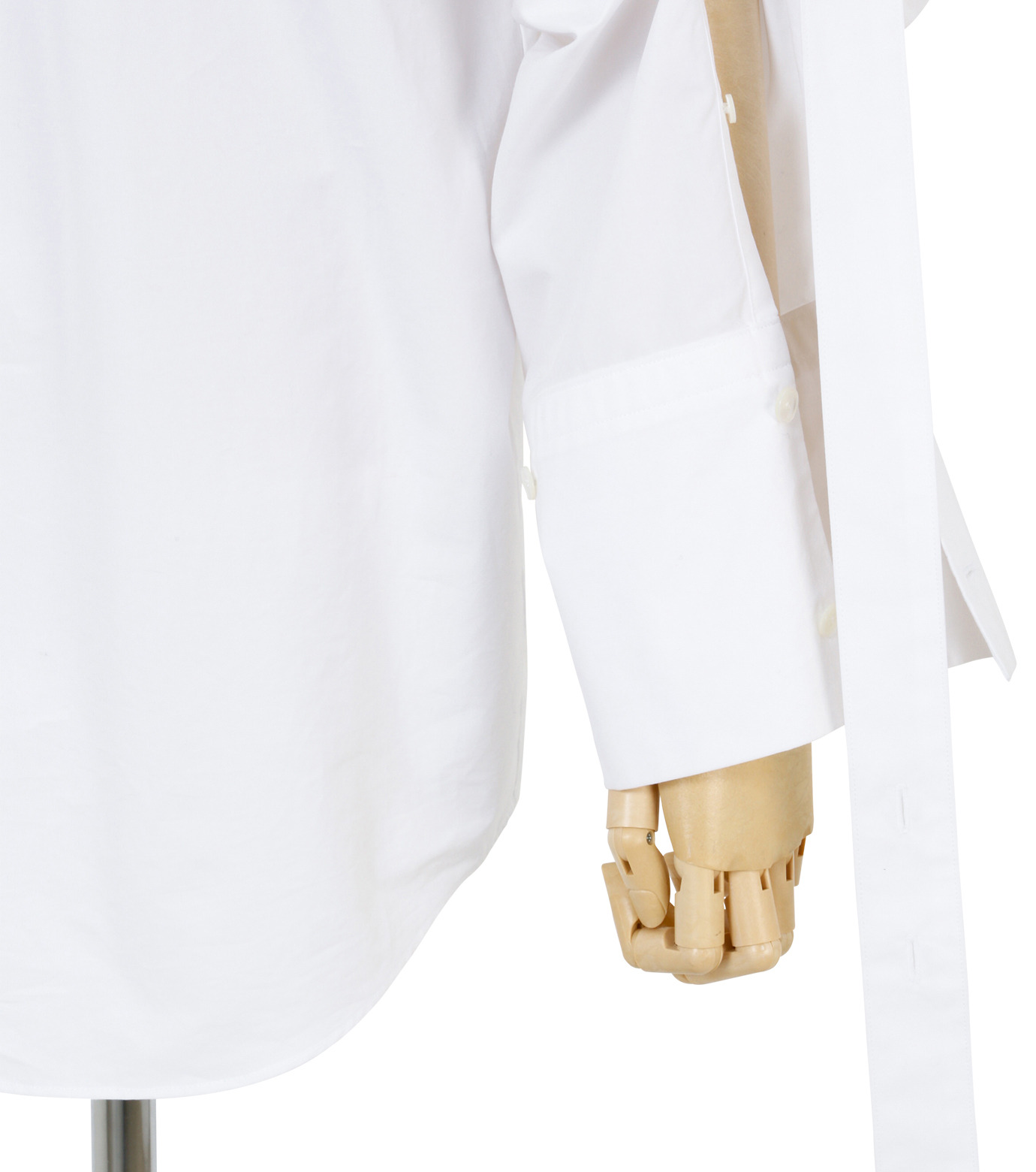 IRENE(アイレネ)のバックワーズシャツ-WHITE(シャツ/shirt)-19S83009 拡大詳細画像7