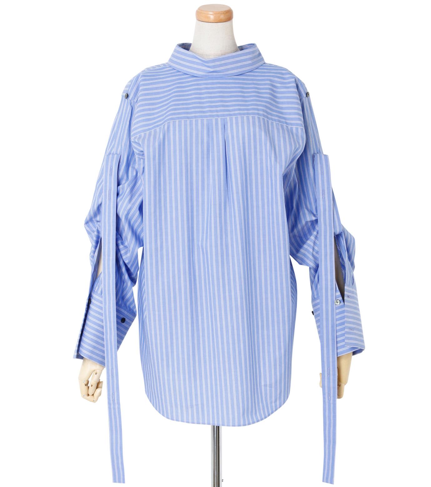 IRENE(アイレネ)のバックワーズシャツ-BLUE(シャツ/shirt)-19S83009 拡大詳細画像1