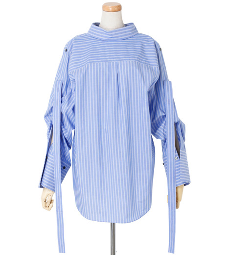 IRENE(アイレネ)のバックワーズシャツ-BLUE(シャツ/shirt)-19S83009 詳細画像1