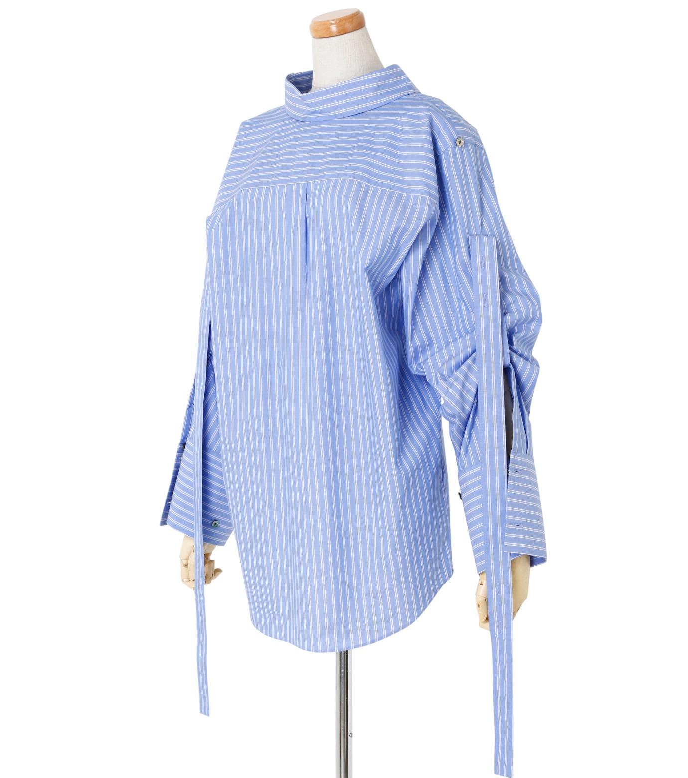 IRENE(アイレネ)のバックワーズシャツ-BLUE(シャツ/shirt)-19S83009 拡大詳細画像2