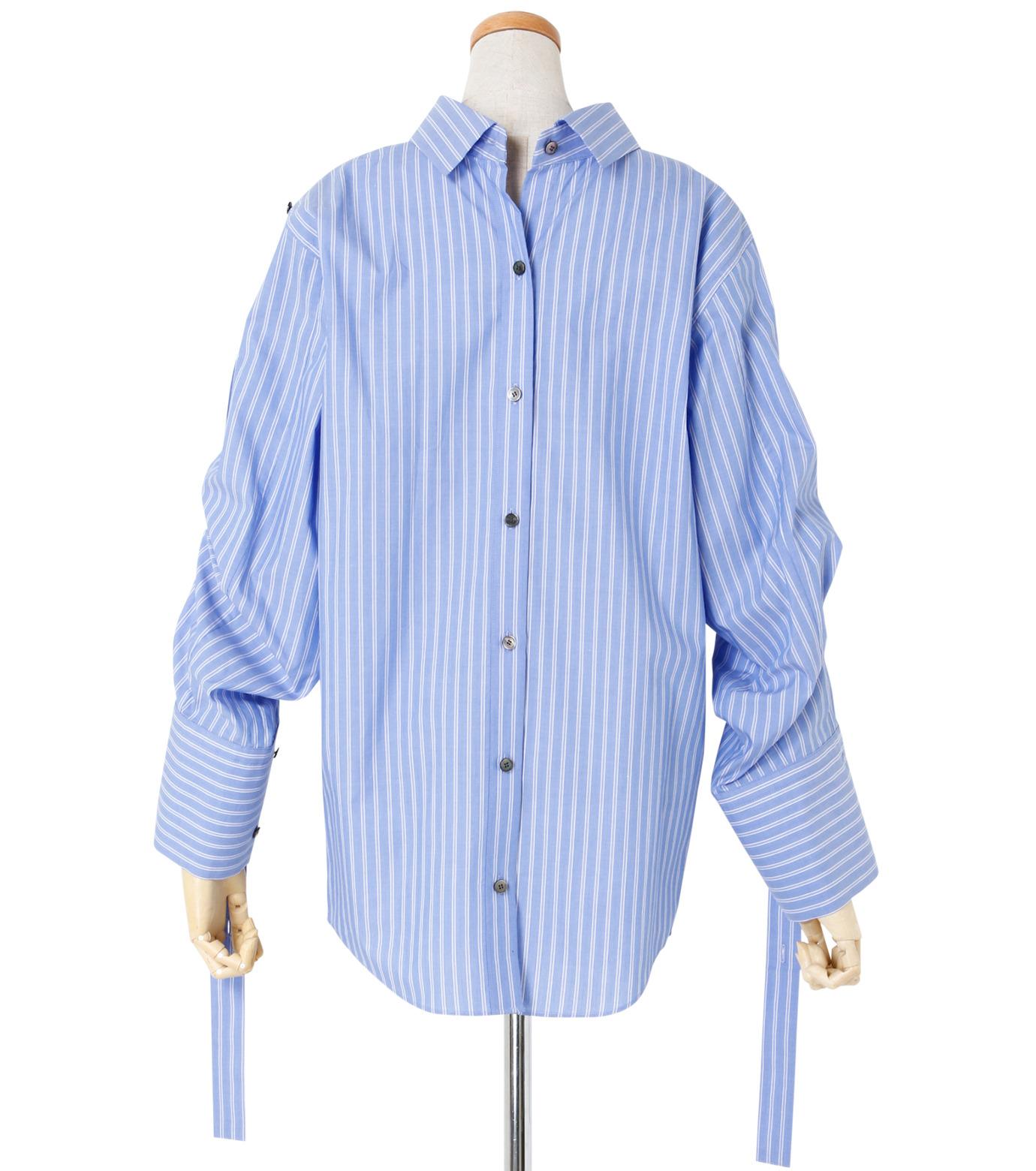 IRENE(アイレネ)のバックワーズシャツ-BLUE(シャツ/shirt)-19S83009 拡大詳細画像3