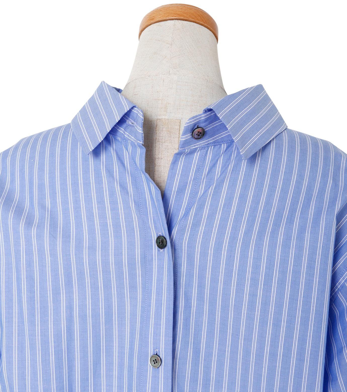 IRENE(アイレネ)のバックワーズシャツ-BLUE(シャツ/shirt)-19S83009 拡大詳細画像5