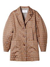 IRENE(アイレネ) フラワーサテンシャツジャケット