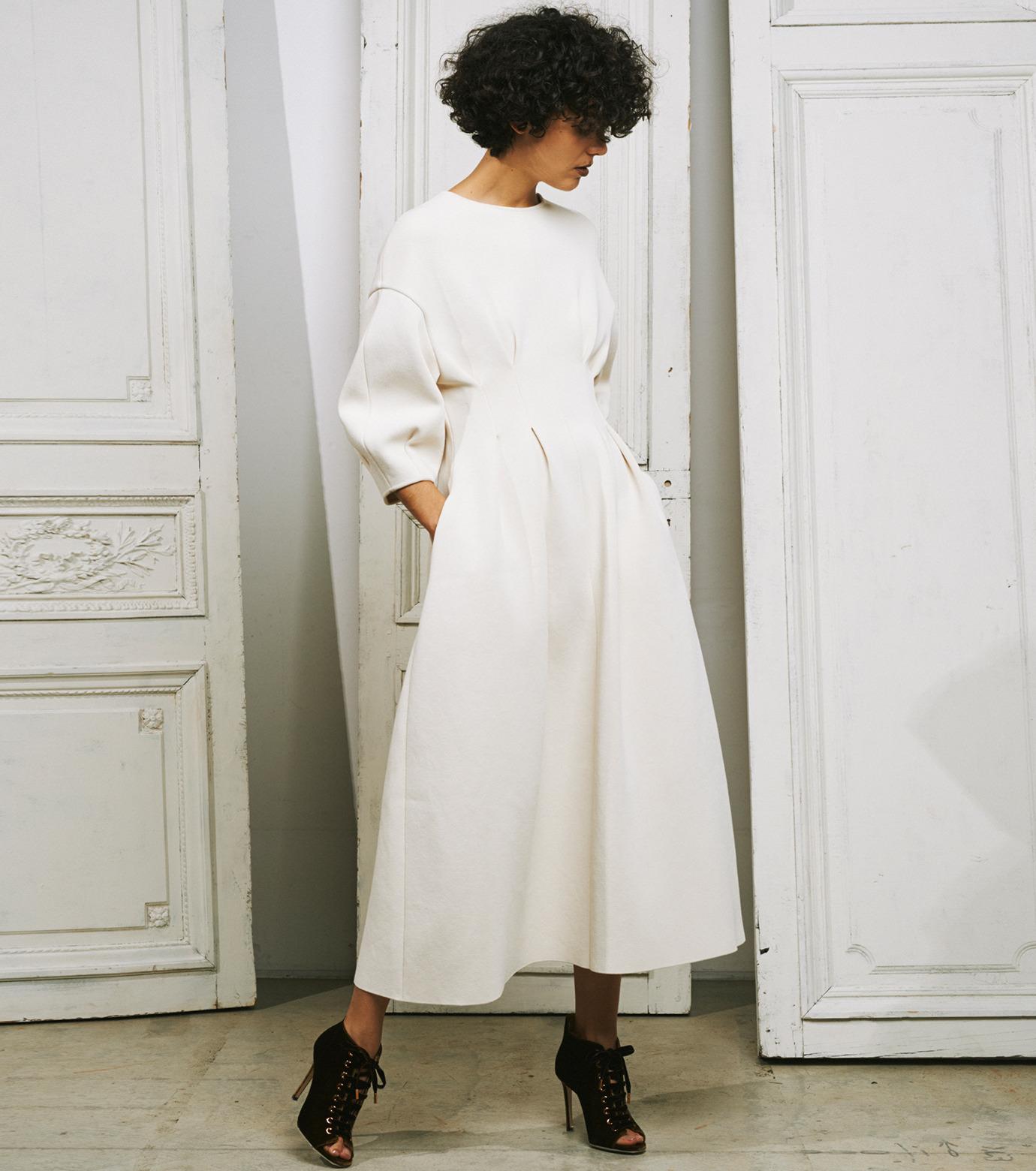 IRENE(アイレネ)のコットンニットドレス-WHITE(ワンピース/one piece)-19S85009 拡大詳細画像10