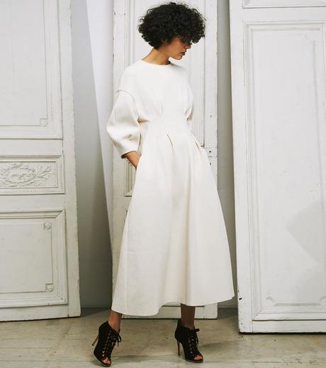 IRENE(アイレネ)のコットンニットドレス-WHITE(ワンピース/one piece)-19S85009 詳細画像10