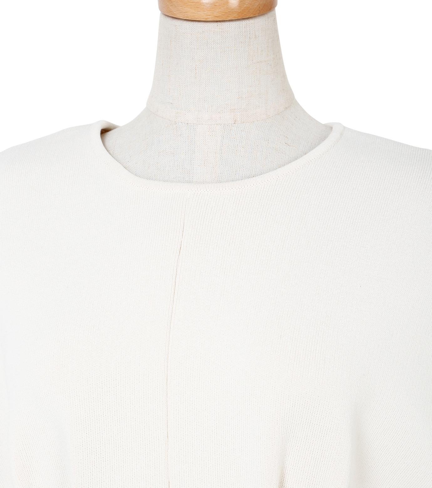 IRENE(アイレネ)のコットンニットドレス-WHITE(ワンピース/one piece)-19S85009 拡大詳細画像4
