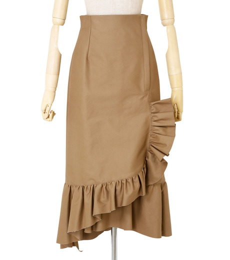 IRENE(アイレネ)のクリンクルフリルチノスカート-BEIGE(スカート/skirt)-19S87005 詳細画像1