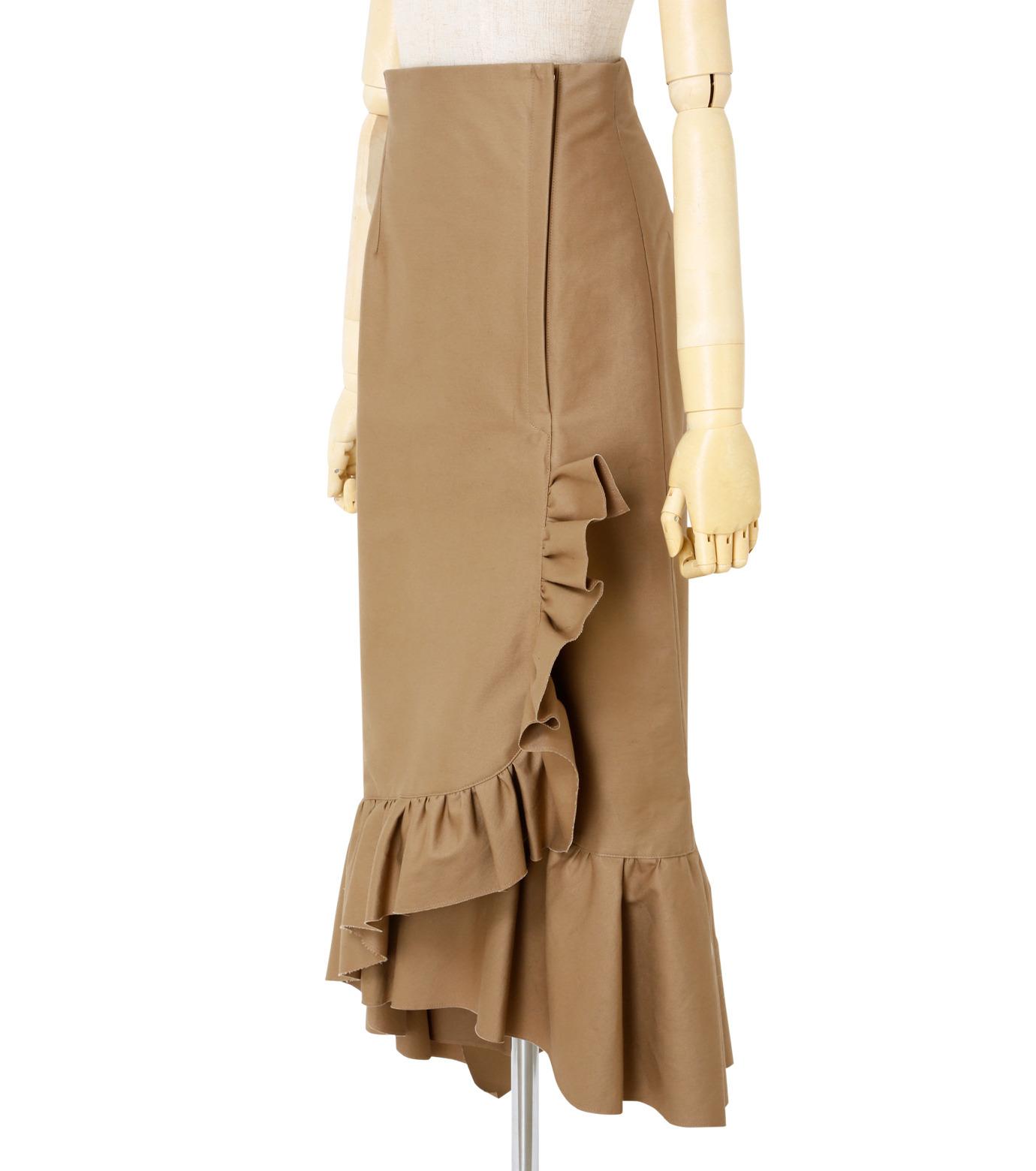 IRENE(アイレネ)のクリンクルフリルチノスカート-BEIGE(スカート/skirt)-19S87005 拡大詳細画像2