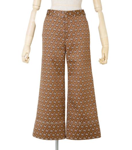 IRENE(アイレネ)のフラワーサテンパンツ-BROWN(パンツ/pants)-19S88001 詳細画像1