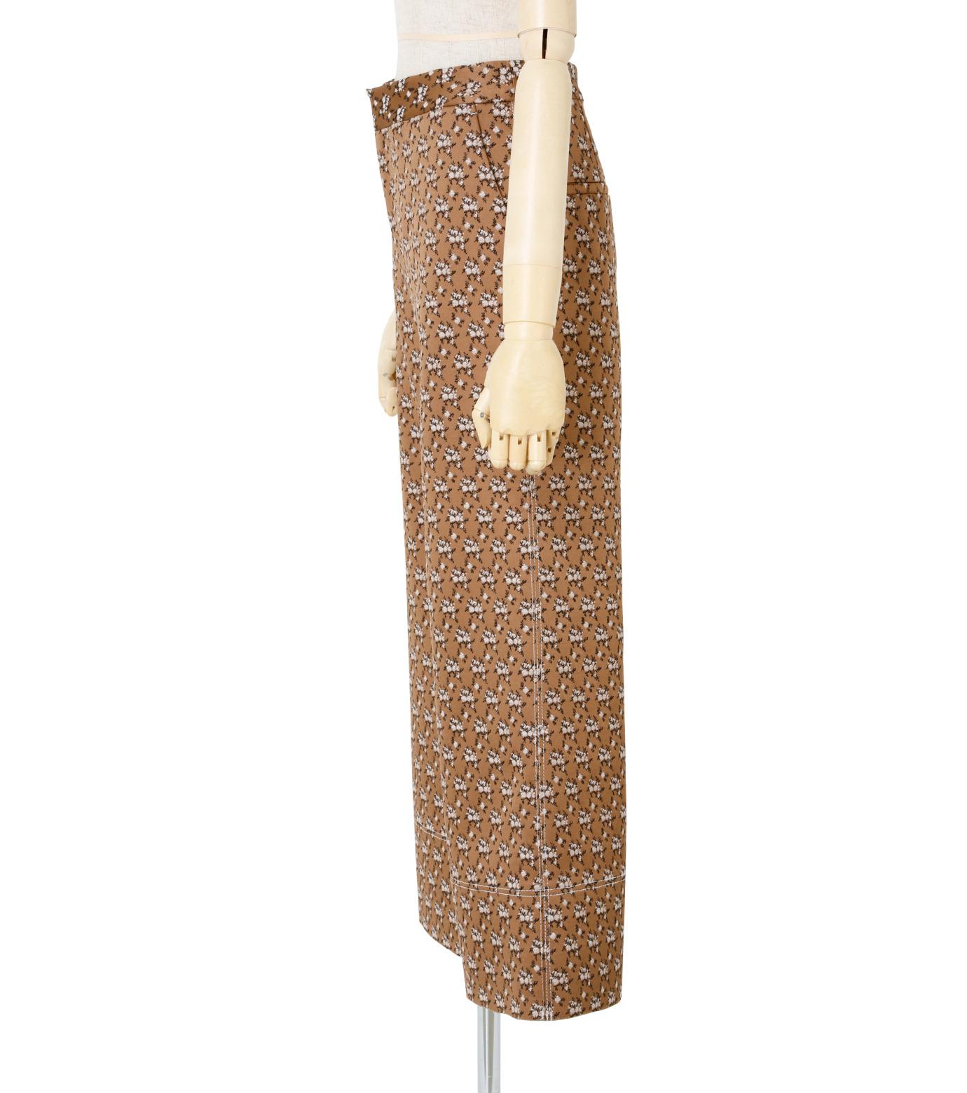 IRENE(アイレネ)のフラワーサテンパンツ-BROWN(パンツ/pants)-19S88001 拡大詳細画像2