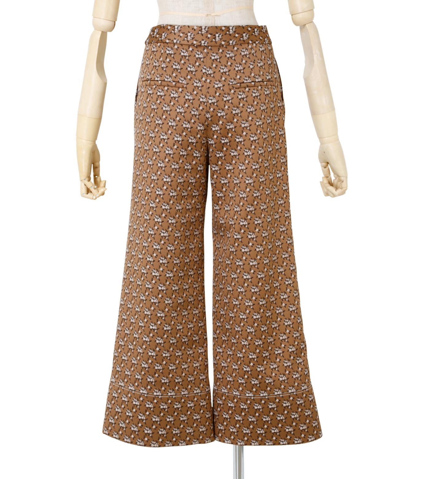 IRENE(アイレネ)のフラワーサテンパンツ-BROWN(パンツ/pants)-19S88001 拡大詳細画像3