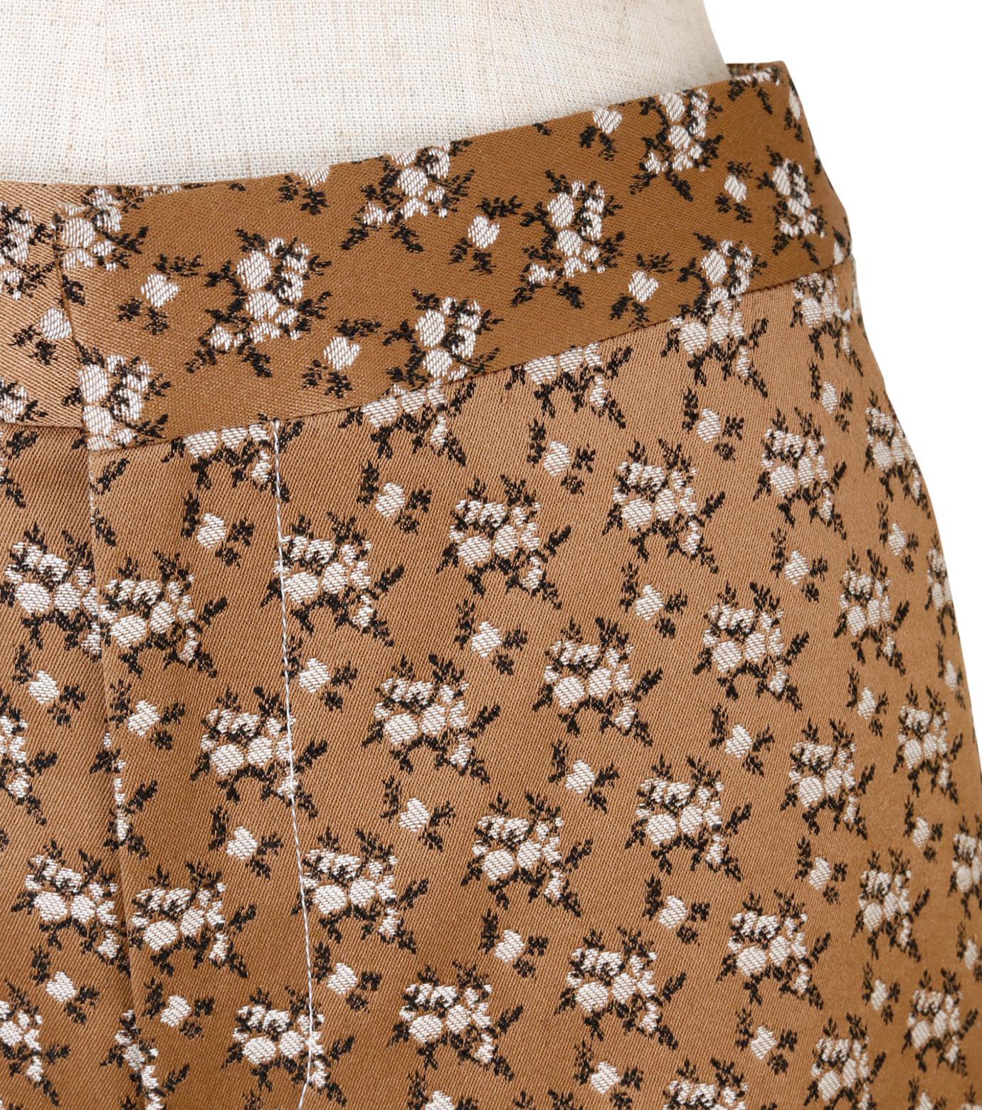 IRENE(アイレネ)のフラワーサテンパンツ-BROWN(パンツ/pants)-19S88001 拡大詳細画像4