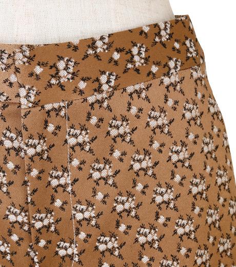 IRENE(アイレネ)のフラワーサテンパンツ-BROWN(パンツ/pants)-19S88001 詳細画像4