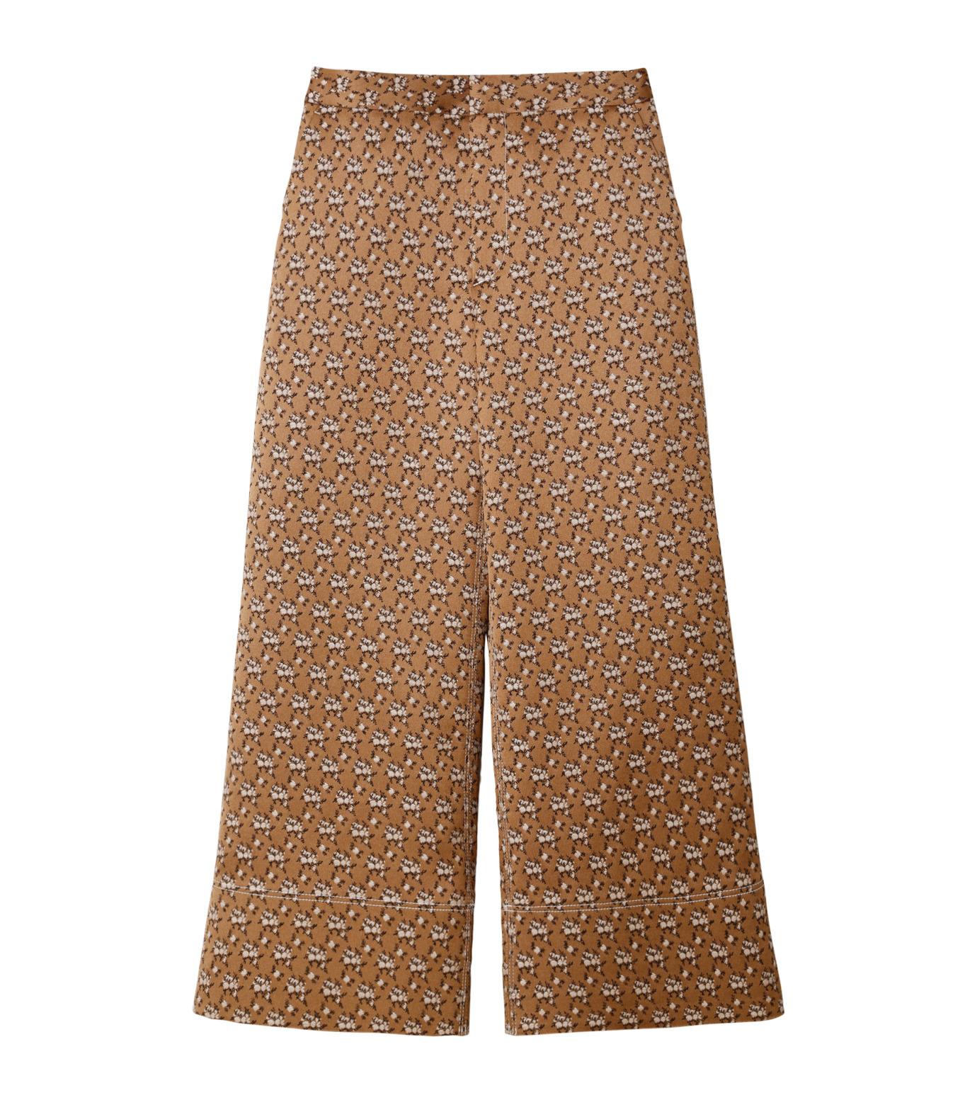 IRENE(アイレネ)のフラワーサテンパンツ-BROWN(パンツ/pants)-19S88001 拡大詳細画像6