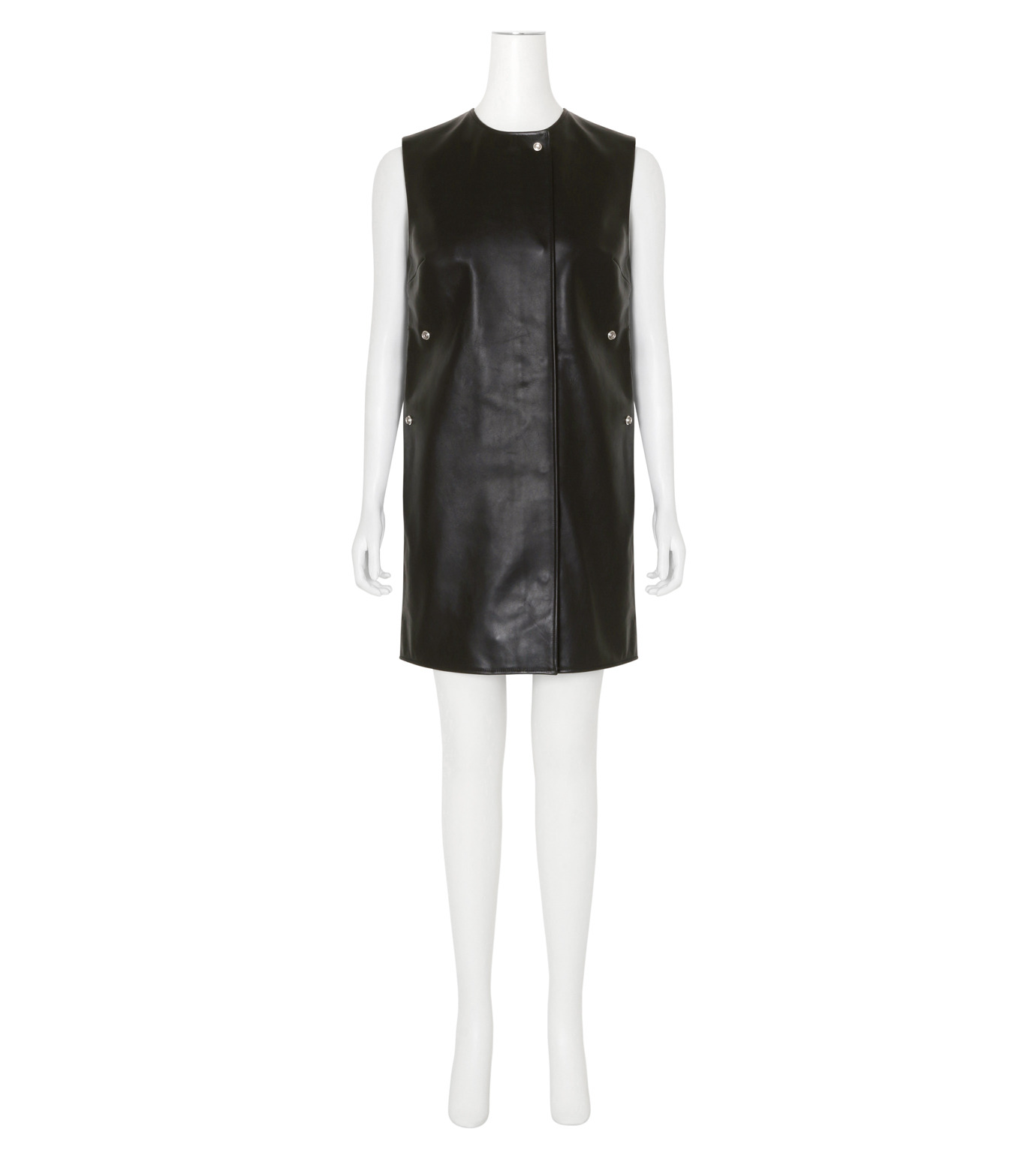 ACNE STUDIOS(アクネ ストゥディオズ)のCow Leather Sless Dress-BLACK(ワンピース/one piece)-1AJ164-13 拡大詳細画像1