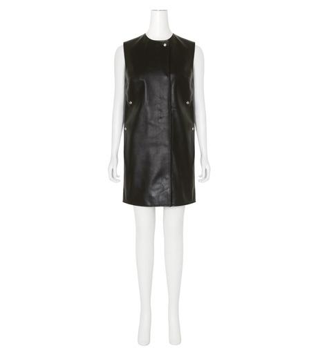 ACNE STUDIOS(アクネ ストゥディオズ)のCow Leather Sless Dress-BLACK(ワンピース/one piece)-1AJ164-13 詳細画像1