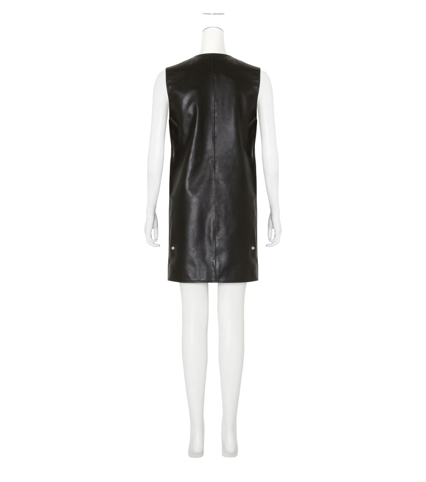 ACNE STUDIOS(アクネ ストゥディオズ)のCow Leather Sless Dress-BLACK(ワンピース/one piece)-1AJ164-13 拡大詳細画像2