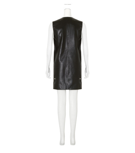 ACNE STUDIOS(アクネ ストゥディオズ)のCow Leather Sless Dress-BLACK(ワンピース/one piece)-1AJ164-13 詳細画像2