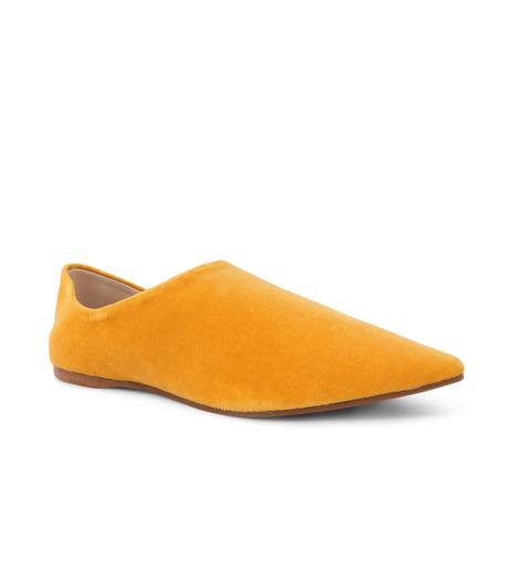 ACNE STUDIOS(アクネ ストゥディオズ)のSlipper Velvet-YELLOW(フラットシューズ/Flat shoes)-1EFC66-32 詳細画像2