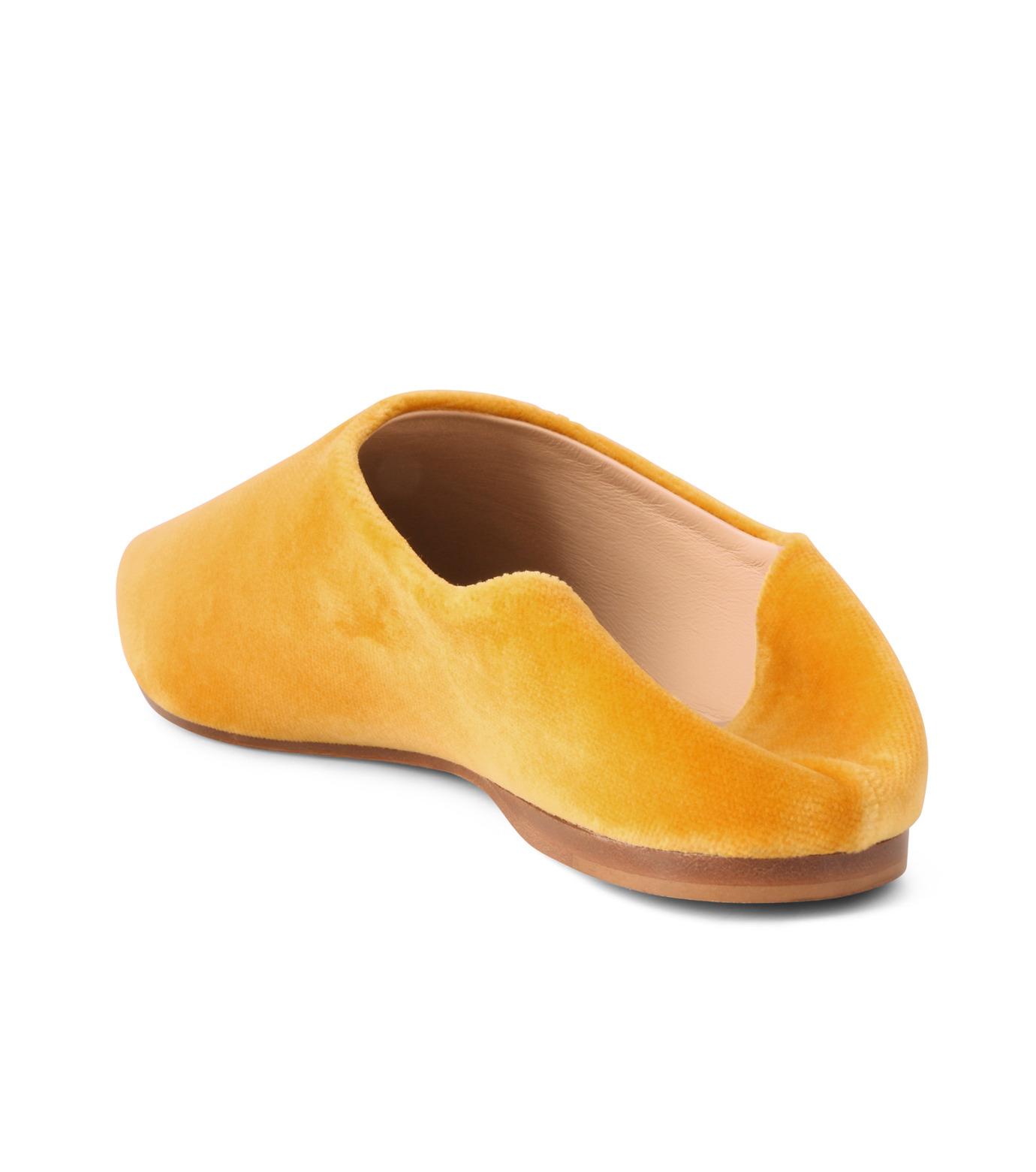 ACNE STUDIOS(アクネ ストゥディオズ)のSlipper Velvet-YELLOW(フラットシューズ/Flat shoes)-1EFC66-32 拡大詳細画像3