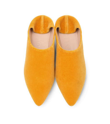 ACNE STUDIOS(アクネ ストゥディオズ)のSlipper Velvet-YELLOW(フラットシューズ/Flat shoes)-1EFC66-32 詳細画像5