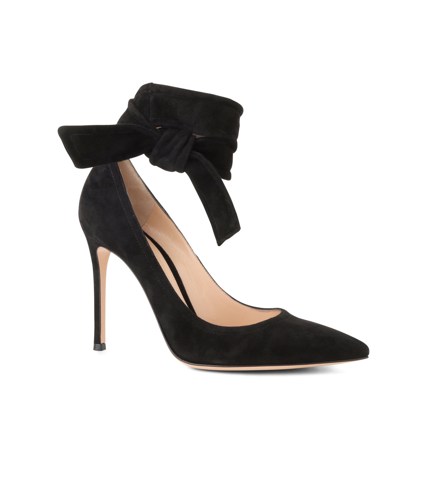 Gianvito Rossi(ジャンヴィト ロッシ)のAnkle Belted Suede Pump-BLACK(パンプス/pumps)-20434-13 拡大詳細画像1