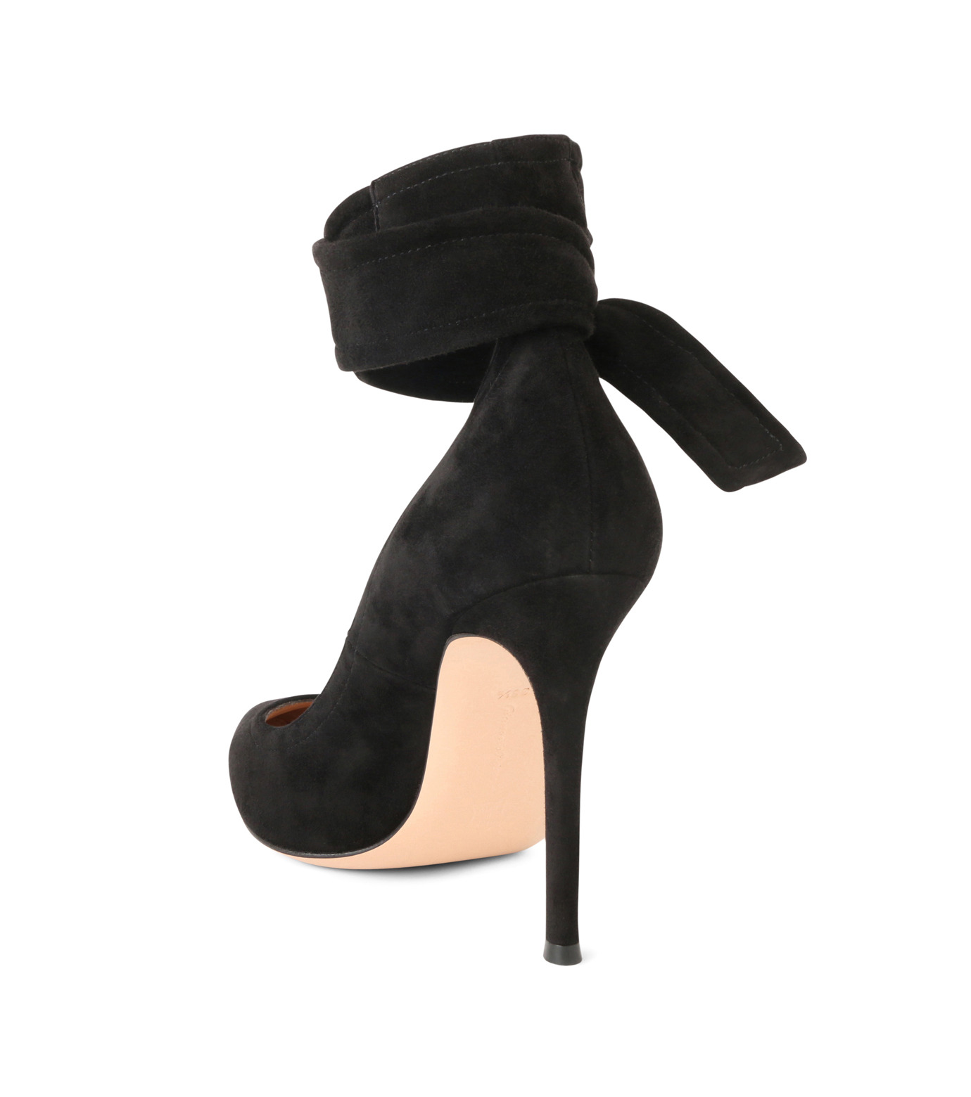 Gianvito Rossi(ジャンヴィト ロッシ)のAnkle Belted Suede Pump-BLACK(パンプス/pumps)-20434-13 拡大詳細画像2