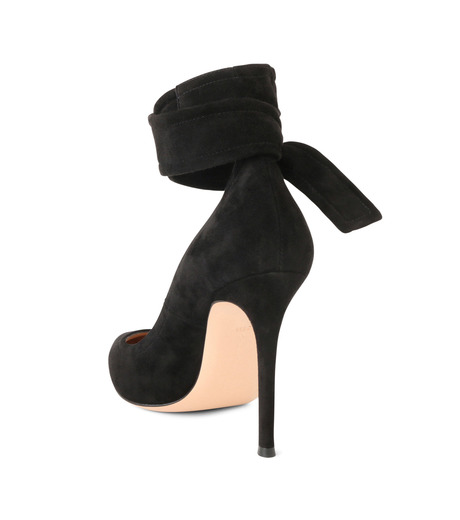 Gianvito Rossi(ジャンヴィト ロッシ)のAnkle Belted Suede Pump-BLACK(パンプス/pumps)-20434-13 詳細画像2