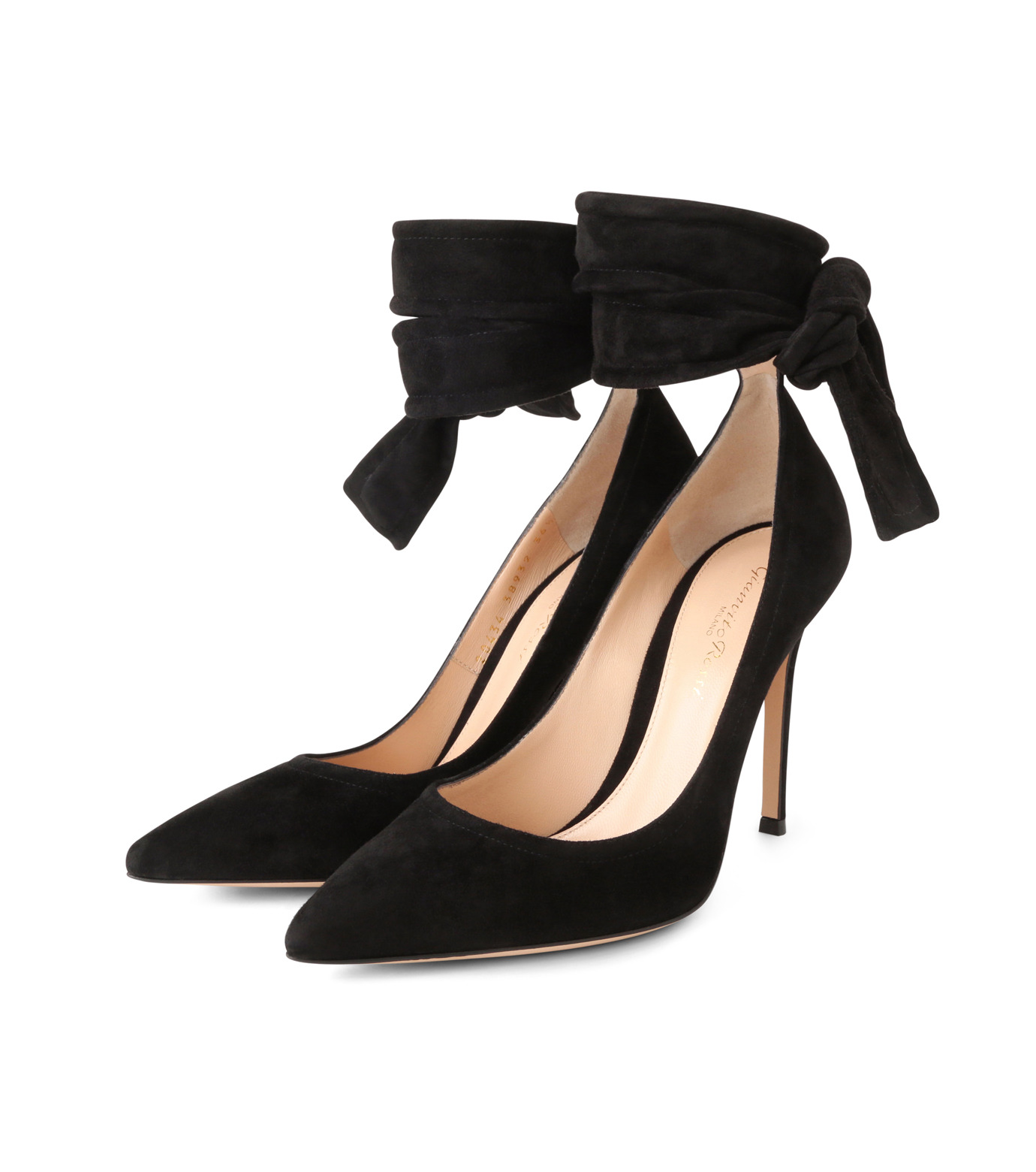 Gianvito Rossi(ジャンヴィト ロッシ)のAnkle Belted Suede Pump-BLACK(パンプス/pumps)-20434-13 拡大詳細画像3
