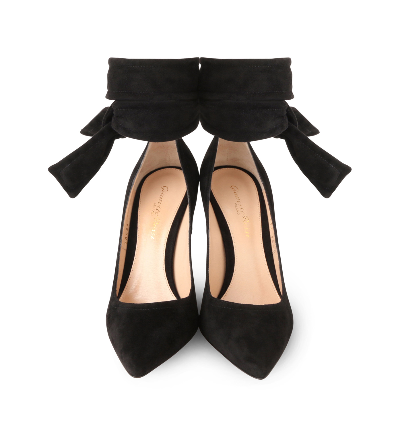 Gianvito Rossi(ジャンヴィト ロッシ)のAnkle Belted Suede Pump-BLACK(パンプス/pumps)-20434-13 拡大詳細画像4