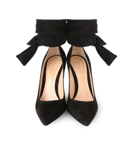 Gianvito Rossi(ジャンヴィト ロッシ)のAnkle Belted Suede Pump-BLACK(パンプス/pumps)-20434-13 詳細画像4