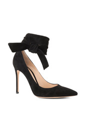 Gianvito Rossi Ankle Belted Suede Pump