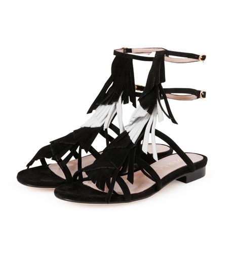 Aperlai(アペルライ)のFlat Sandal Fringes-BLACK(シューズ/shoes)-2046-13 詳細画像2