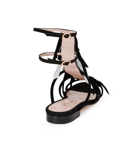 Aperlai(アペルライ)のFlat Sandal Fringes-BLACK(シューズ/shoes)-2046-13 詳細画像3
