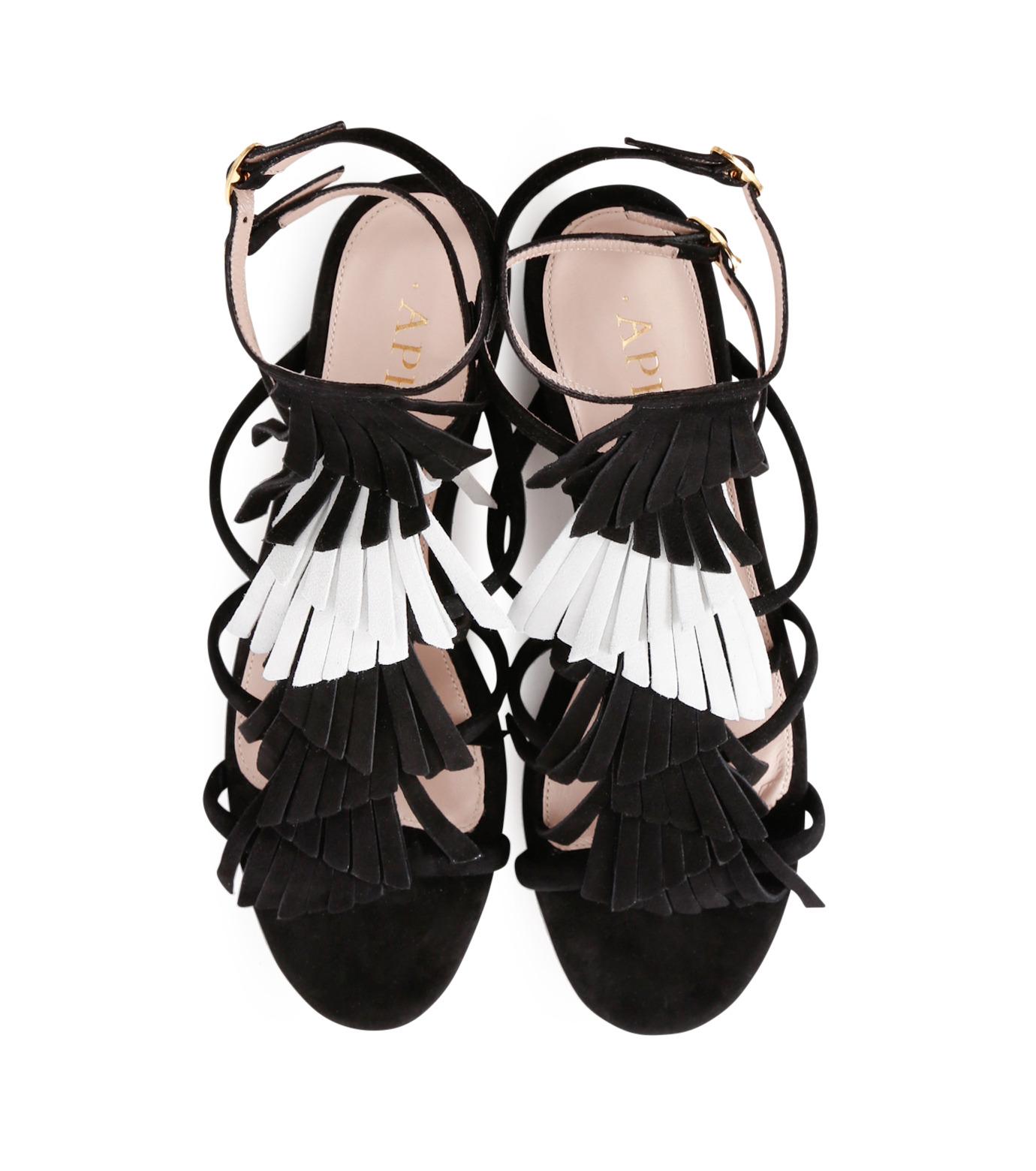 Aperlai(アペルライ)のFlat Sandal Fringes-BLACK(シューズ/shoes)-2046-13 拡大詳細画像4