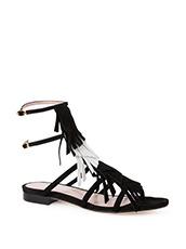 Aperlai Flat Sandal Fringes
