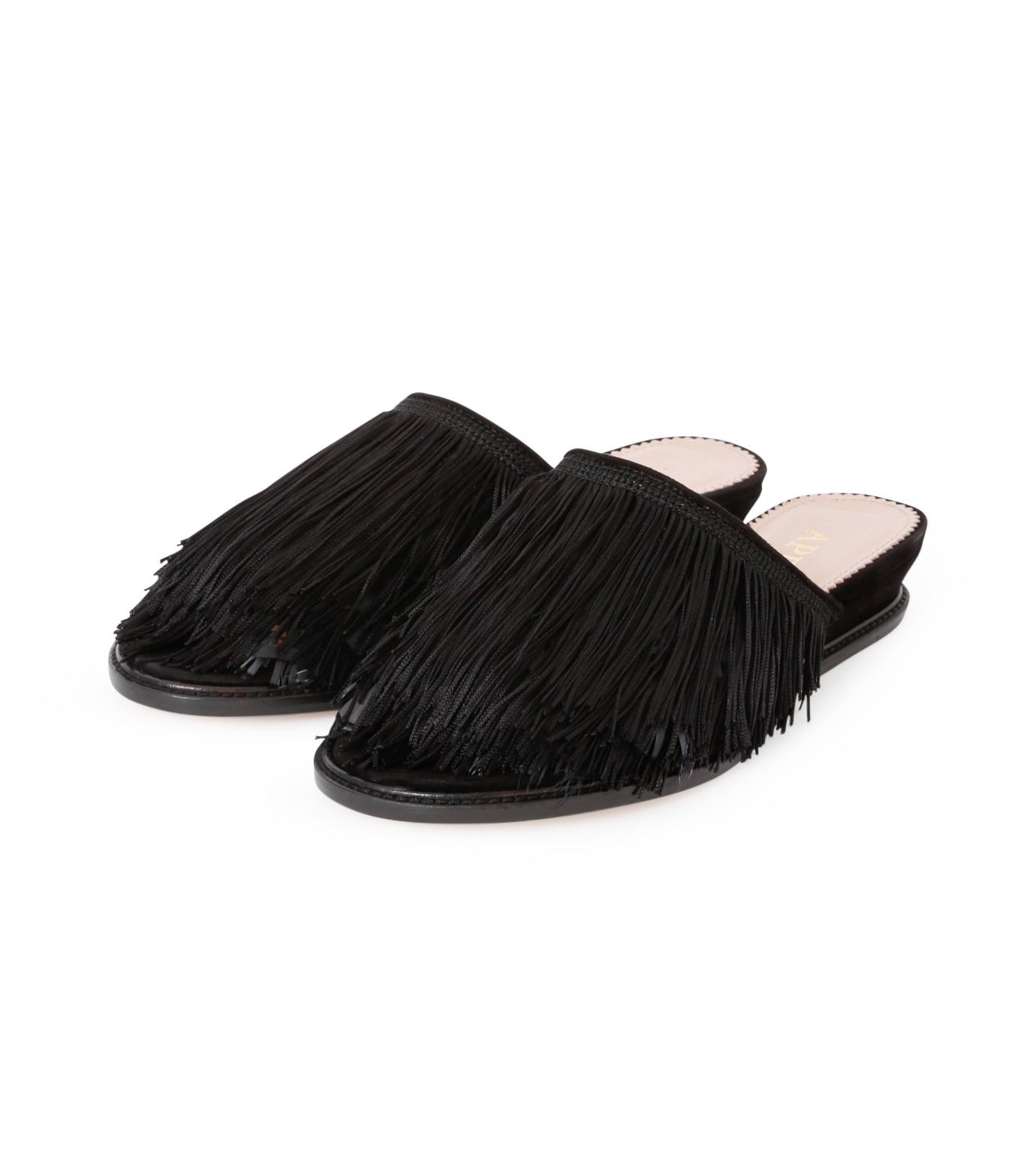 Aperlai(アペルライ)のFeather & Fringe Flat-BLACK(シューズ/shoes)-2060-13 拡大詳細画像2