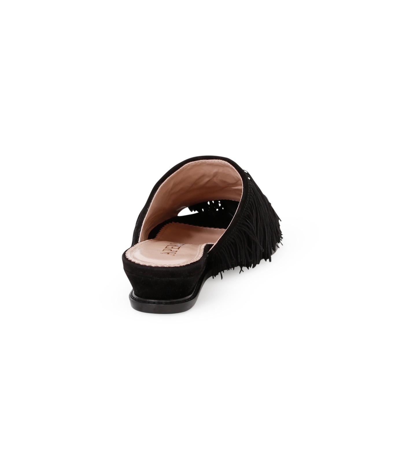 Aperlai(アペルライ)のFeather & Fringe Flat-BLACK(シューズ/shoes)-2060-13 拡大詳細画像3