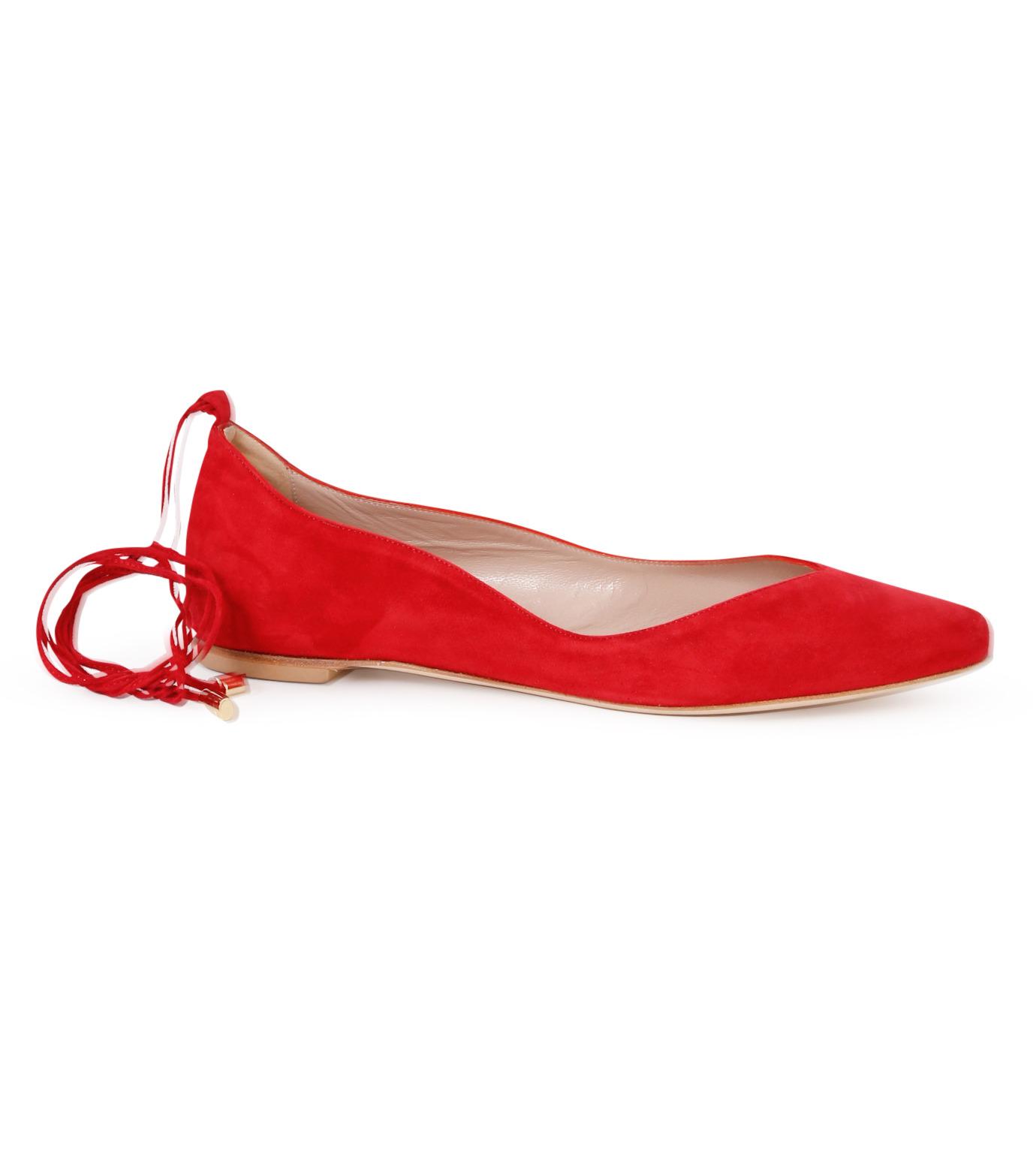 Aperlai(アペルライ)のAnkle Strap Ballerina-NEON ORANGE(シューズ/shoes)-2061-60 拡大詳細画像1