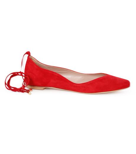 Aperlai(アペルライ)のAnkle Strap Ballerina-NEON ORANGE(シューズ/shoes)-2061-60 詳細画像1
