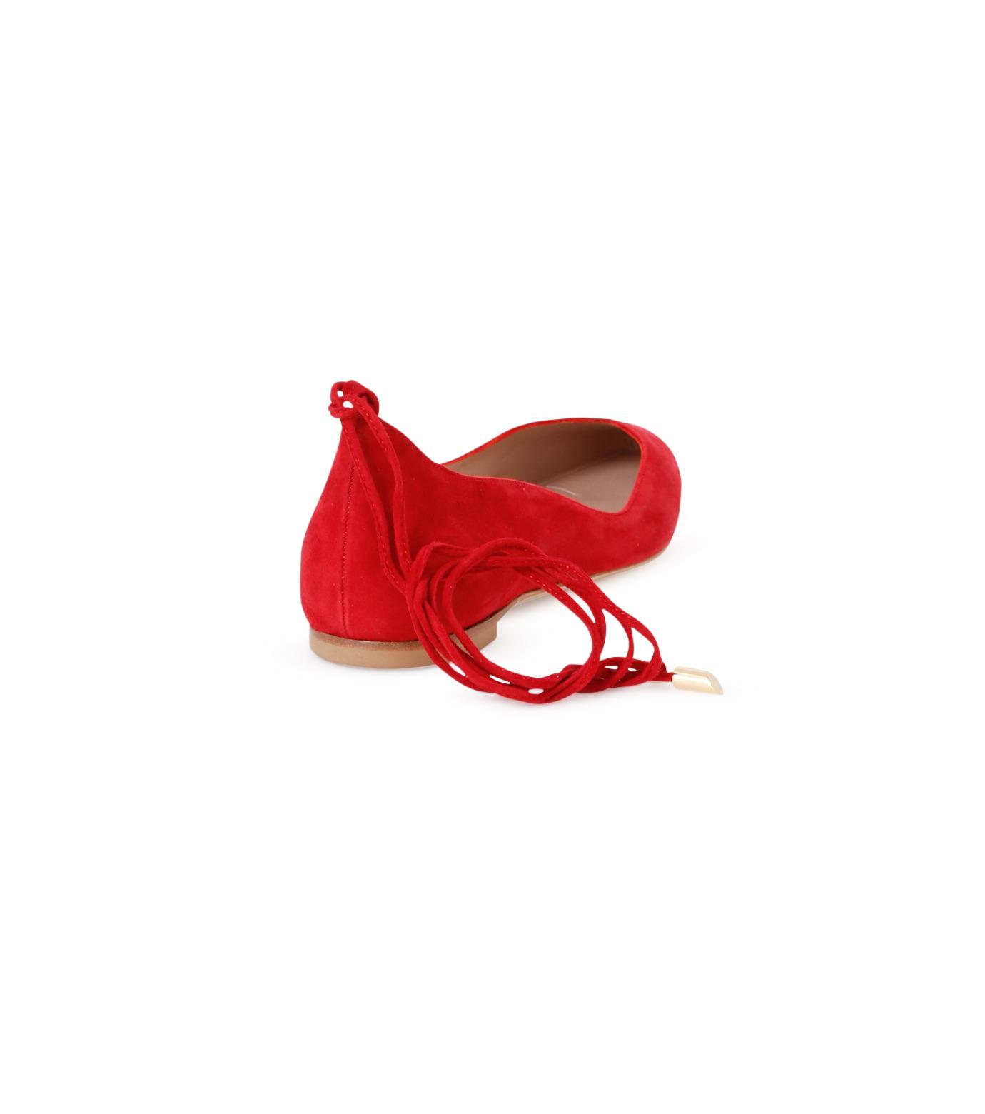 Aperlai(アペルライ)のAnkle Strap Ballerina-NEON ORANGE(シューズ/shoes)-2061-60 拡大詳細画像3