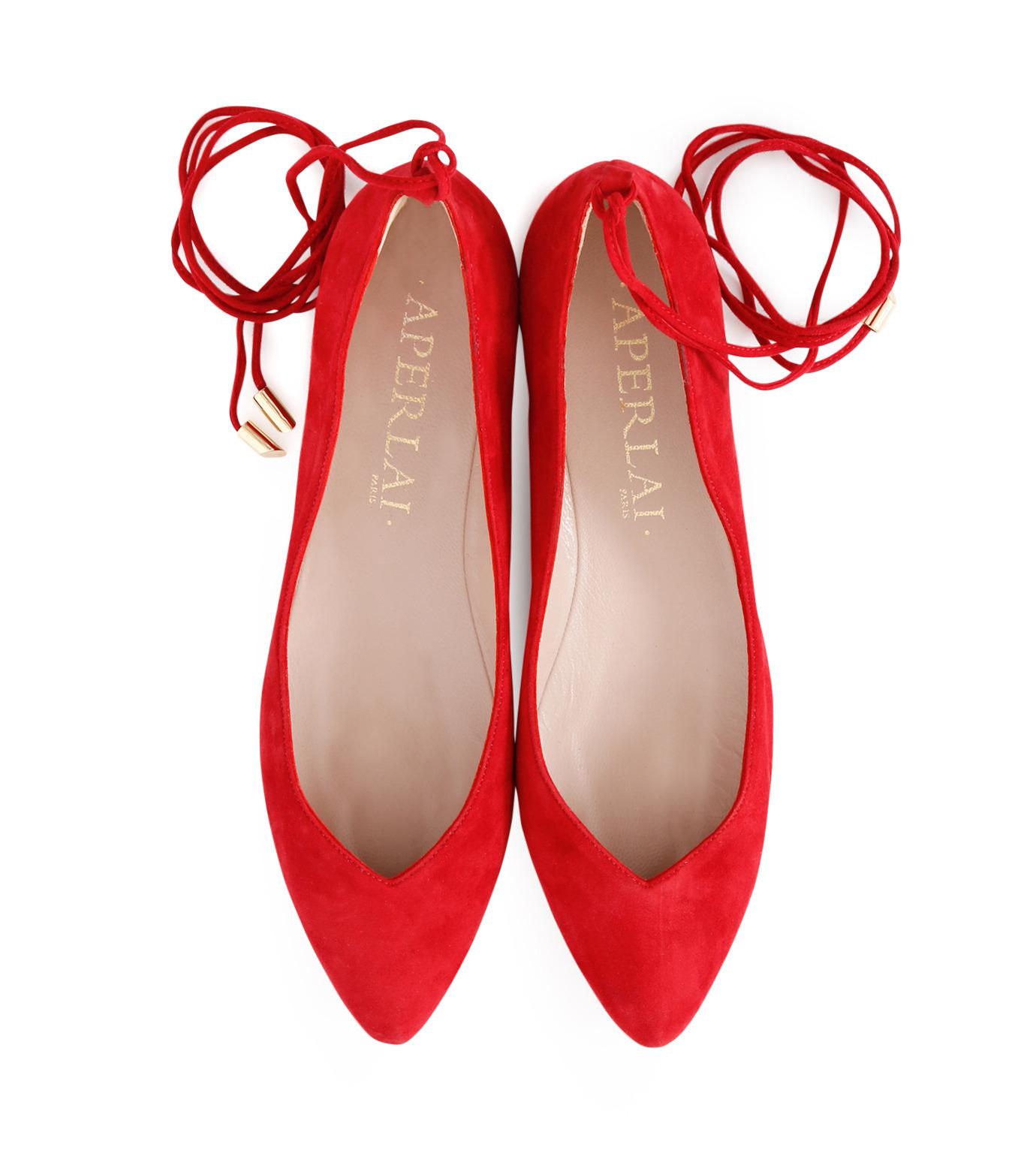 Aperlai(アペルライ)のAnkle Strap Ballerina-NEON ORANGE(シューズ/shoes)-2061-60 拡大詳細画像4