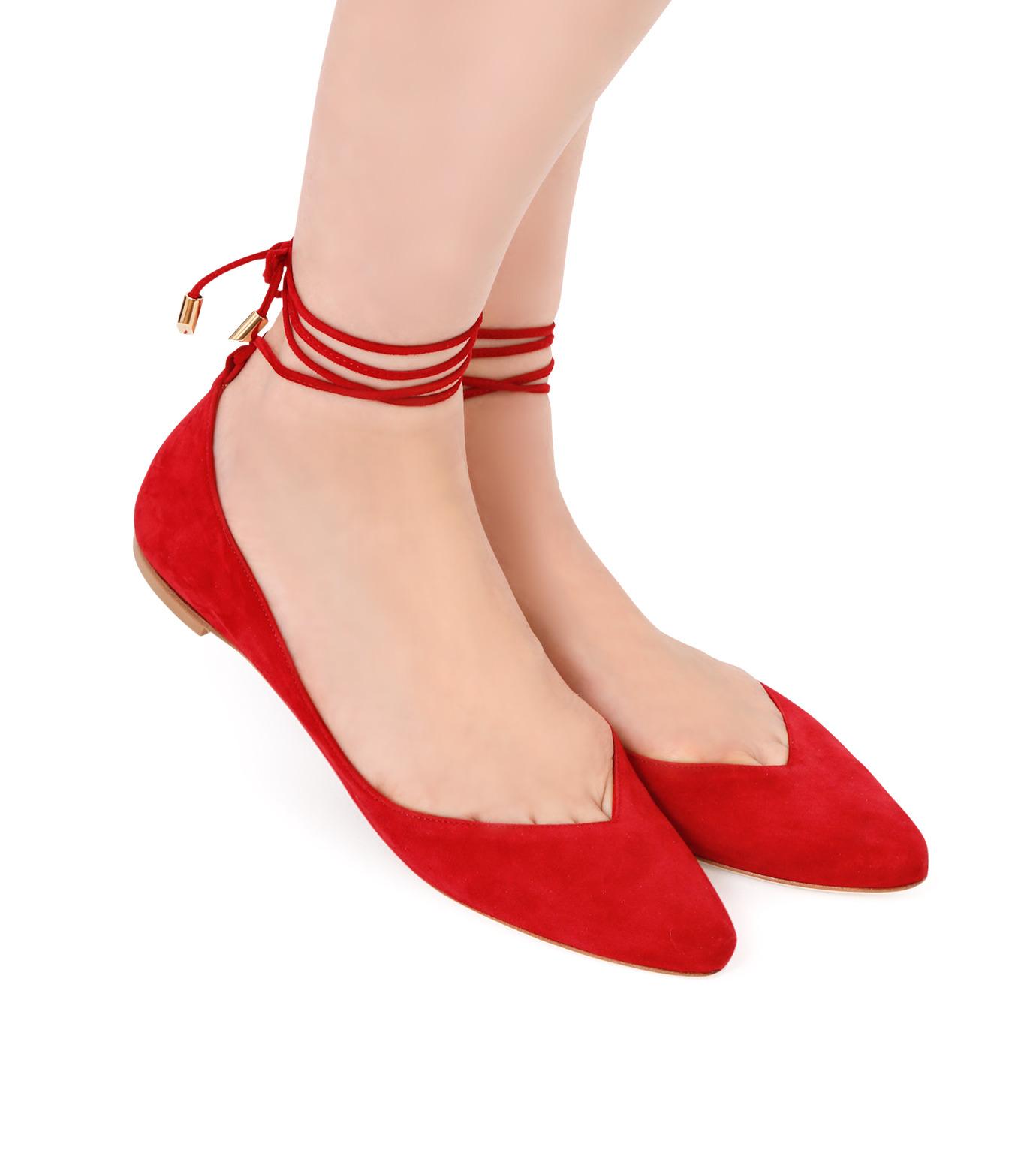 Aperlai(アペルライ)のAnkle Strap Ballerina-NEON ORANGE(シューズ/shoes)-2061-60 拡大詳細画像5